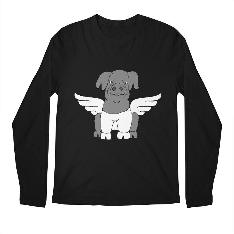 When Pigs Fly: Cinta Senese Men's Regular Longsleeve T-Shirt by Angry Squirrel Studio