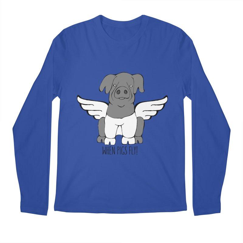When Pigs Fly: Cinta Senese Men's Longsleeve T-Shirt by Angry Squirrel Studio