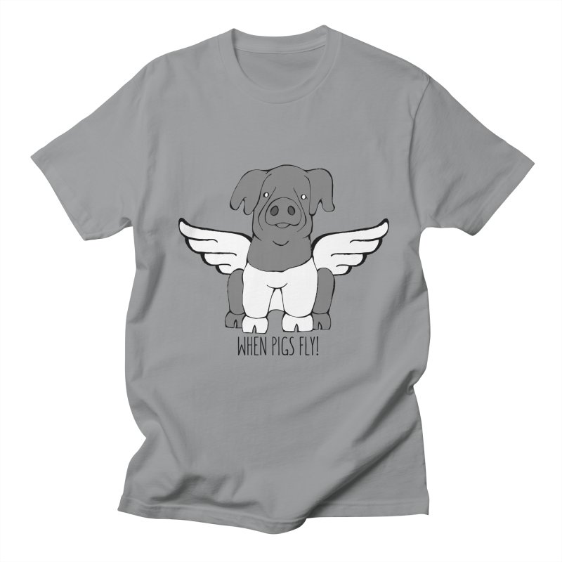 When Pigs Fly: Cinta Senese Men's Regular T-Shirt by Angry Squirrel Studio