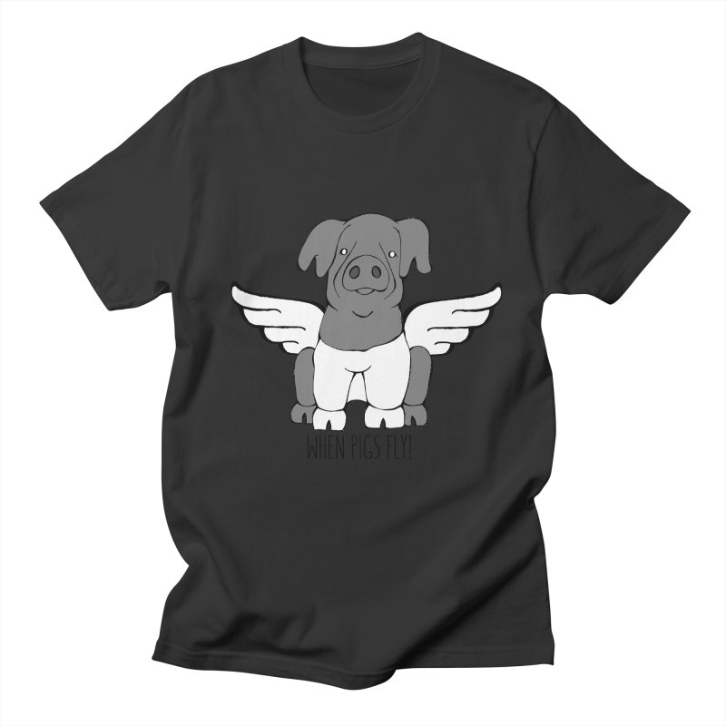 When Pigs Fly: Cinta Senese Men's T-shirt by Angry Squirrel Studio