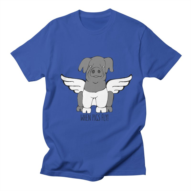 When Pigs Fly: Cinta Senese Women's Regular Unisex T-Shirt by Angry Squirrel Studio
