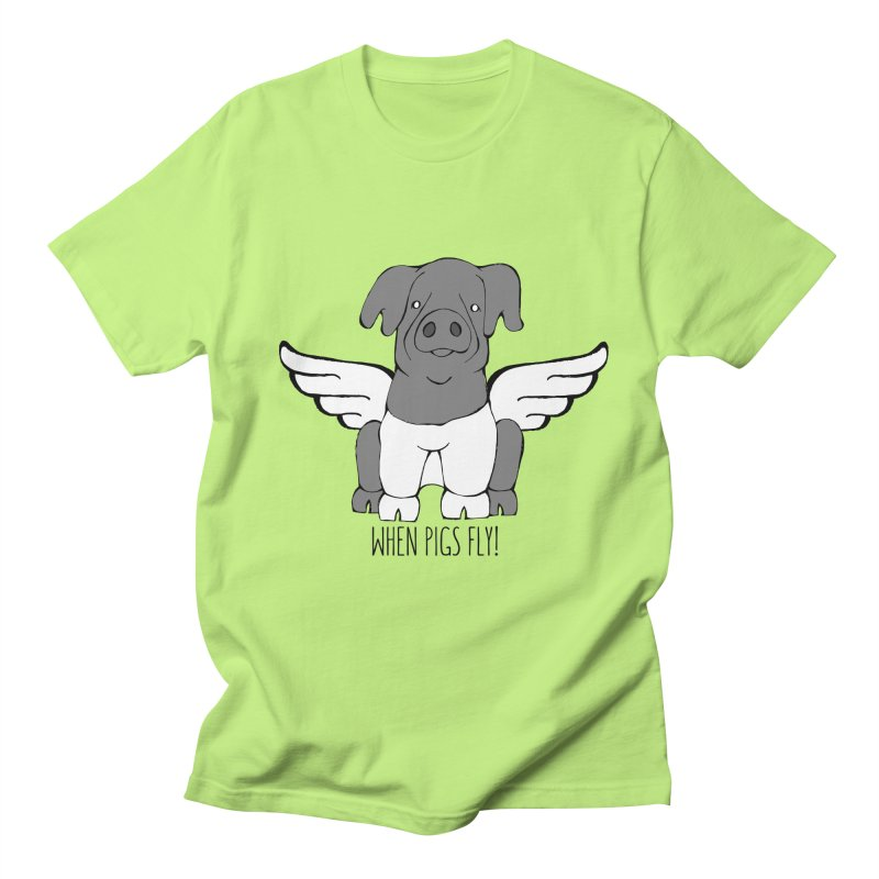 When Pigs Fly: Cinta Senese Women's Unisex T-Shirt by Angry Squirrel Studio