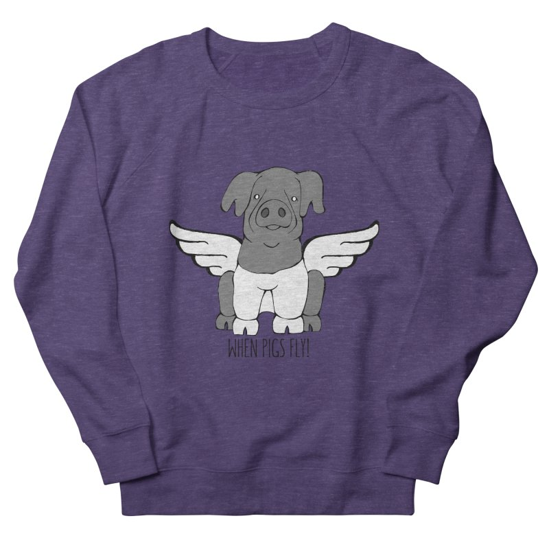 When Pigs Fly: Cinta Senese Women's Sweatshirt by Angry Squirrel Studio