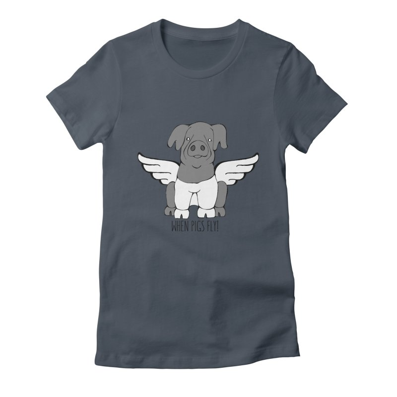 When Pigs Fly: Cinta Senese Women's T-Shirt by Angry Squirrel Studio