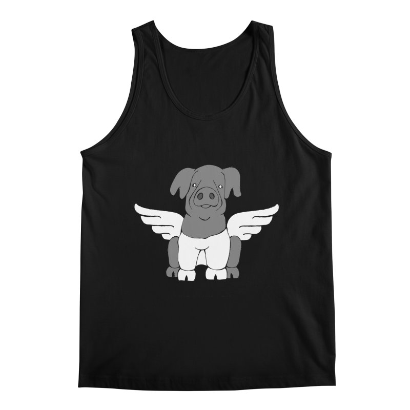 When Pigs Fly: Cinta Senese Men's Regular Tank by Angry Squirrel Studio