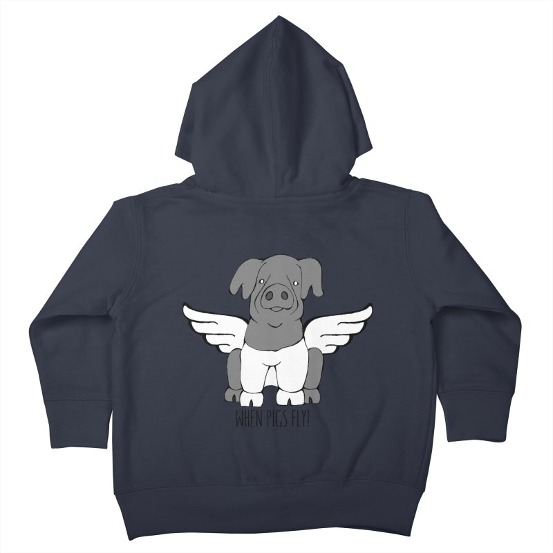When Pigs Fly: Cinta Senese Kids Toddler Zip-Up Hoody by Angry Squirrel Studio
