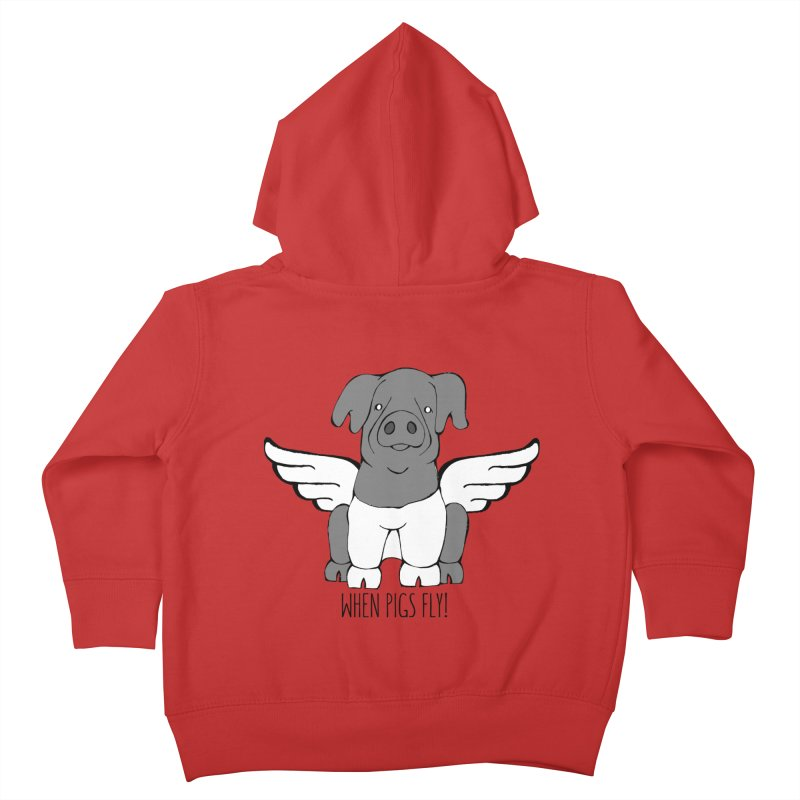 When Pigs Fly: Cinta Senese Kids Toddler Zip-Up Hoody by Angry Squirrel Studio