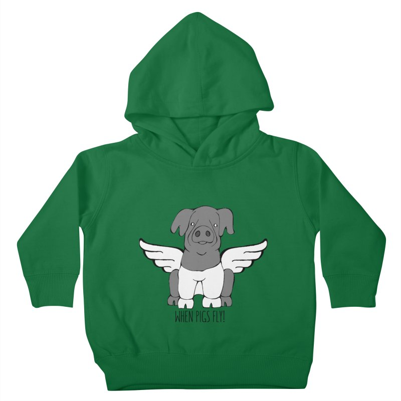 When Pigs Fly: Cinta Senese Kids Toddler Pullover Hoody by Angry Squirrel Studio