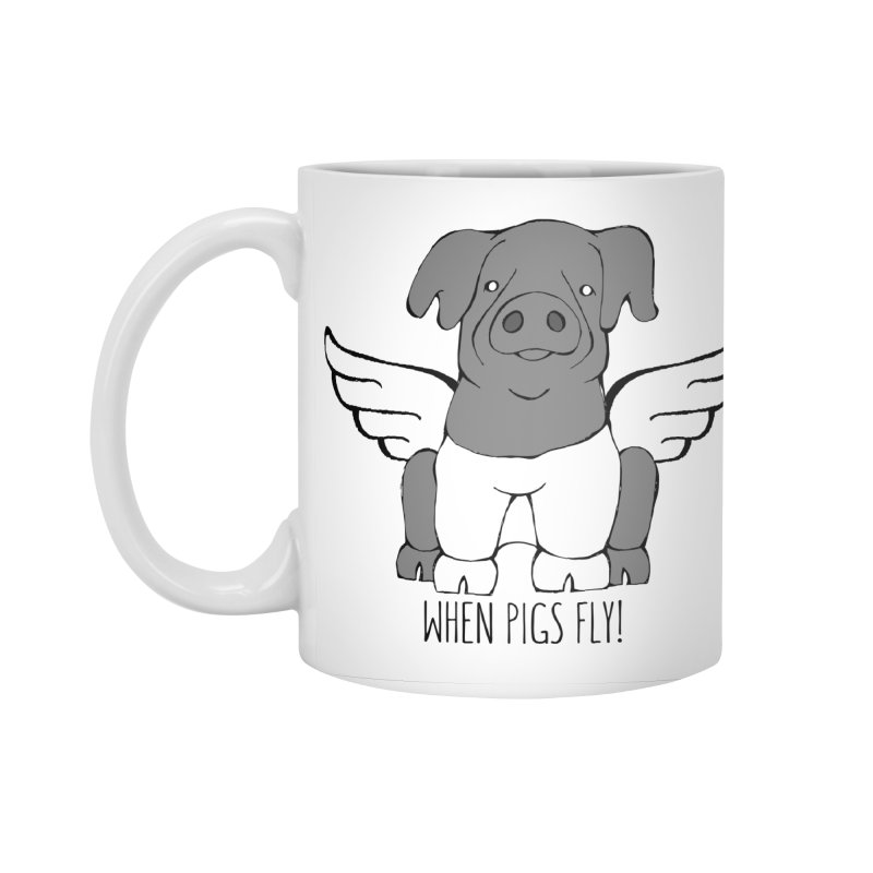 When Pigs Fly: Cinta Senese Accessories Standard Mug by Angry Squirrel Studio