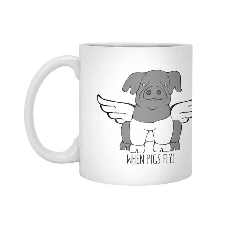 When Pigs Fly: Cinta Senese Accessories Mug by Angry Squirrel Studio