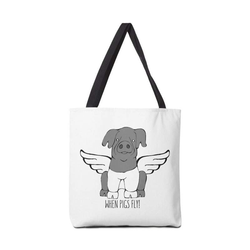 When Pigs Fly: Cinta Senese Accessories Tote Bag Bag by Angry Squirrel Studio