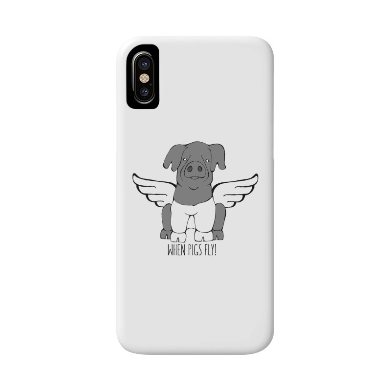 When Pigs Fly: Cinta Senese Accessories Phone Case by Angry Squirrel Studio