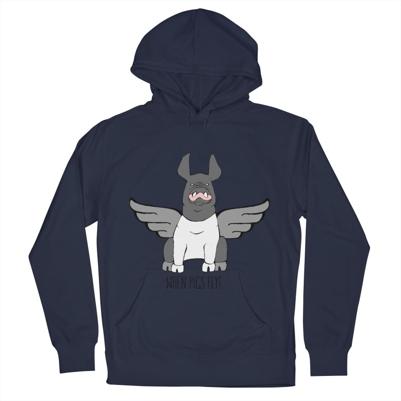 When Pigs Fly: Hampshire Women's Pullover Hoody by Angry Squirrel Studio