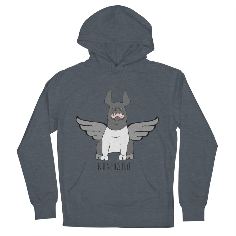 When Pigs Fly: Hampshire Men's Pullover Hoody by Angry Squirrel Studio
