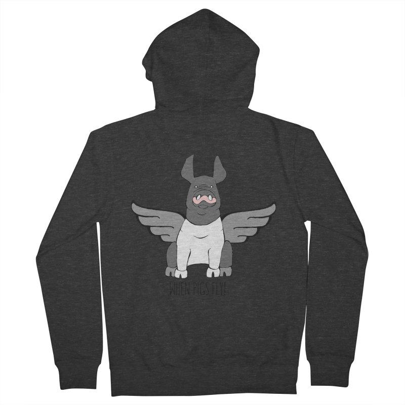 When Pigs Fly: Hampshire Women's Zip-Up Hoody by Angry Squirrel Studio