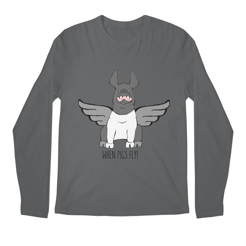 When Pigs Fly: Hampshire Men's Longsleeve T-Shirt by Angry Squirrel Studio
