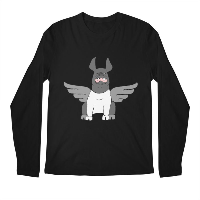 When Pigs Fly: Hampshire Men's Regular Longsleeve T-Shirt by Angry Squirrel Studio