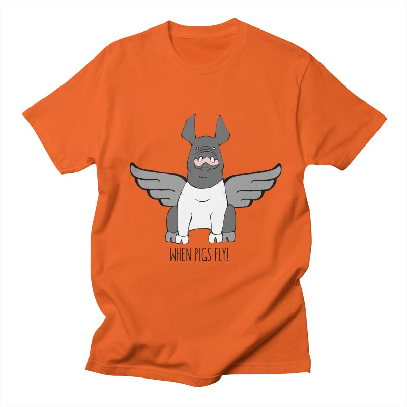 When Pigs Fly: Hampshire Men's T-shirt by Angry Squirrel Studio