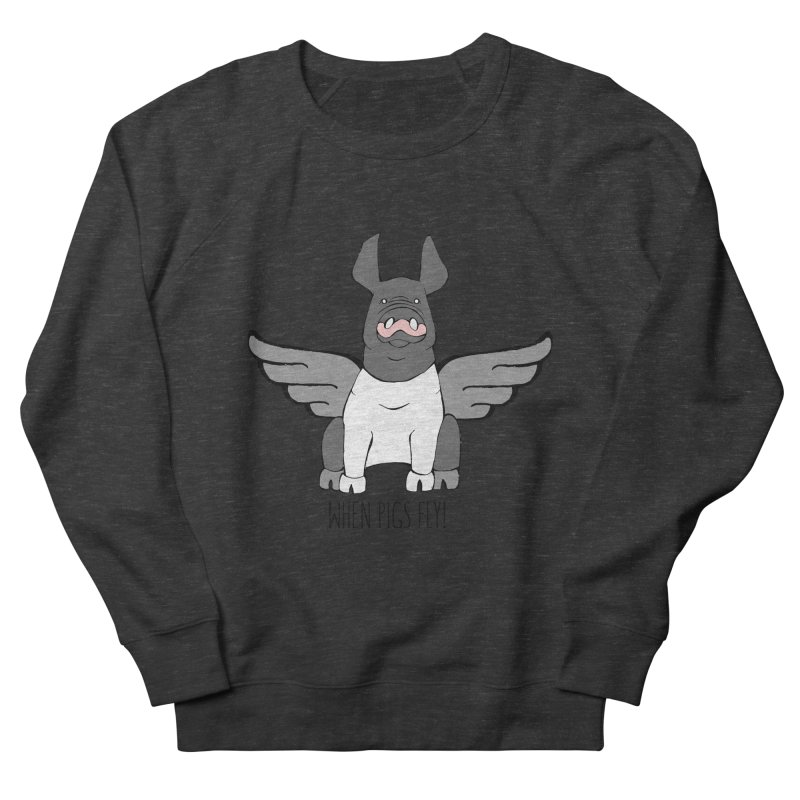 When Pigs Fly: Hampshire Women's French Terry Sweatshirt by Angry Squirrel Studio