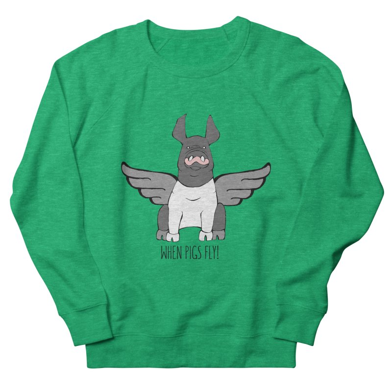 When Pigs Fly: Hampshire Men's Sweatshirt by Angry Squirrel Studio