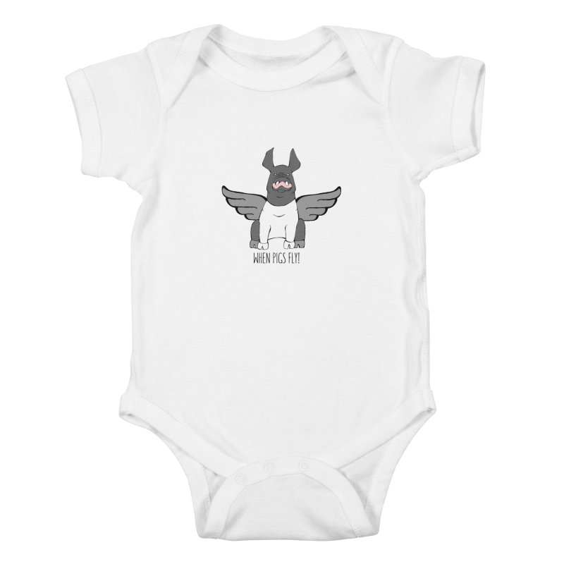 When Pigs Fly: Hampshire Kids Baby Bodysuit by Angry Squirrel Studio