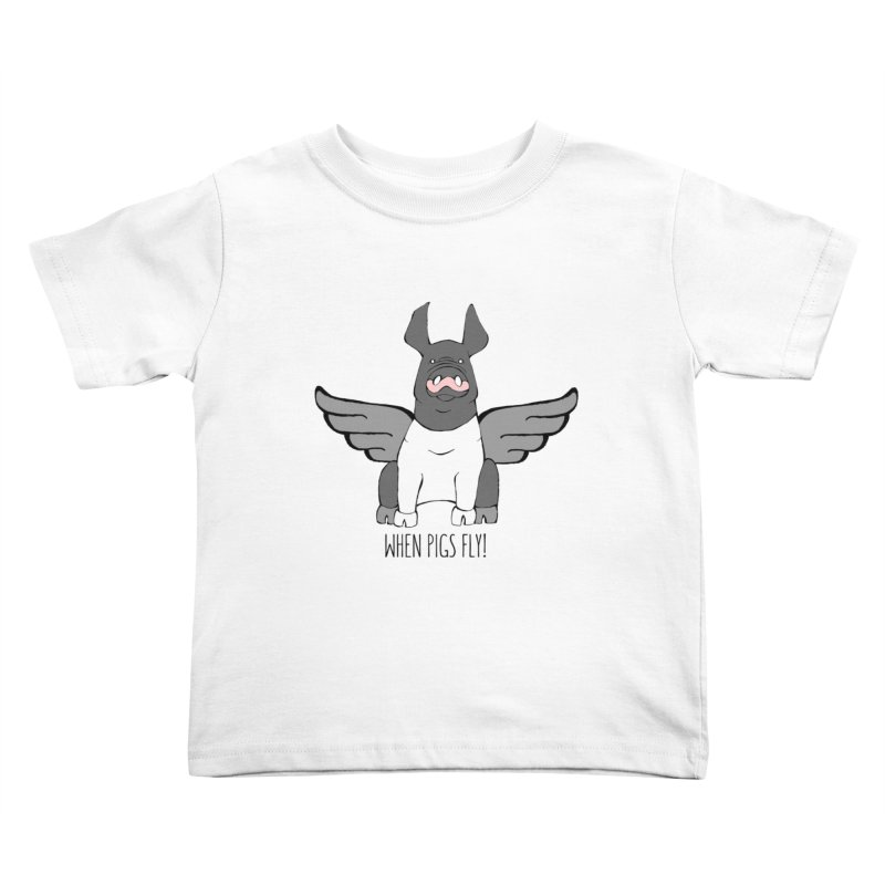 When Pigs Fly: Hampshire Kids Toddler T-Shirt by Angry Squirrel Studio