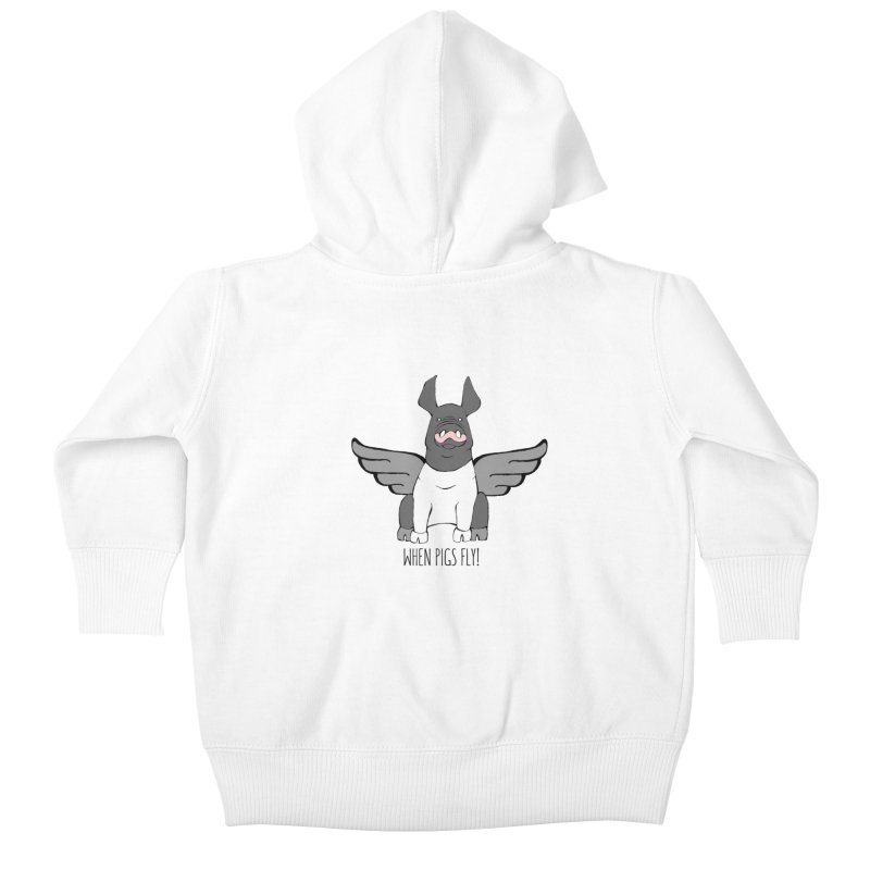 When Pigs Fly: Hampshire Kids Baby Zip-Up Hoody by Angry Squirrel Studio