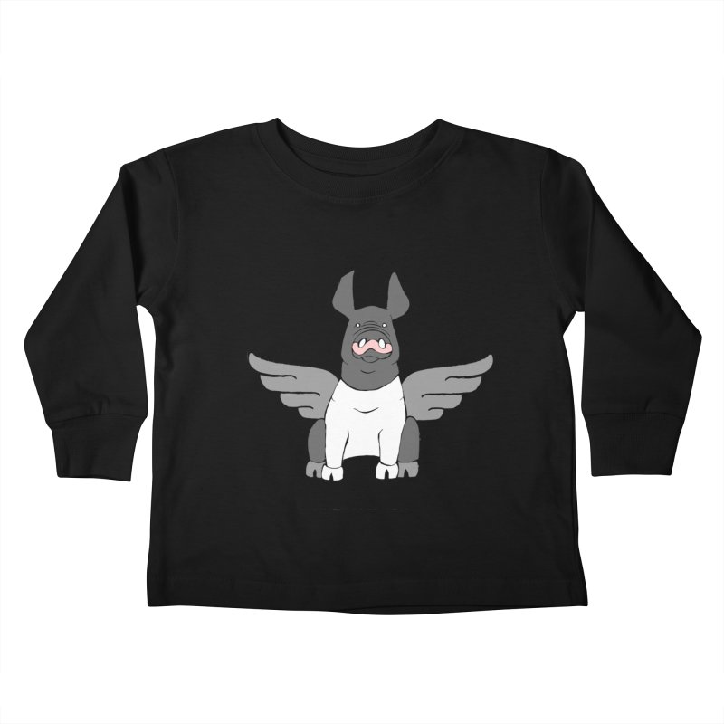 When Pigs Fly: Hampshire Kids Toddler Longsleeve T-Shirt by Angry Squirrel Studio