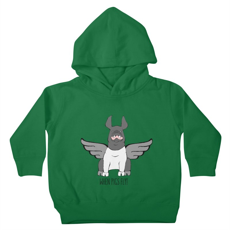 When Pigs Fly: Hampshire Kids Toddler Pullover Hoody by Angry Squirrel Studio