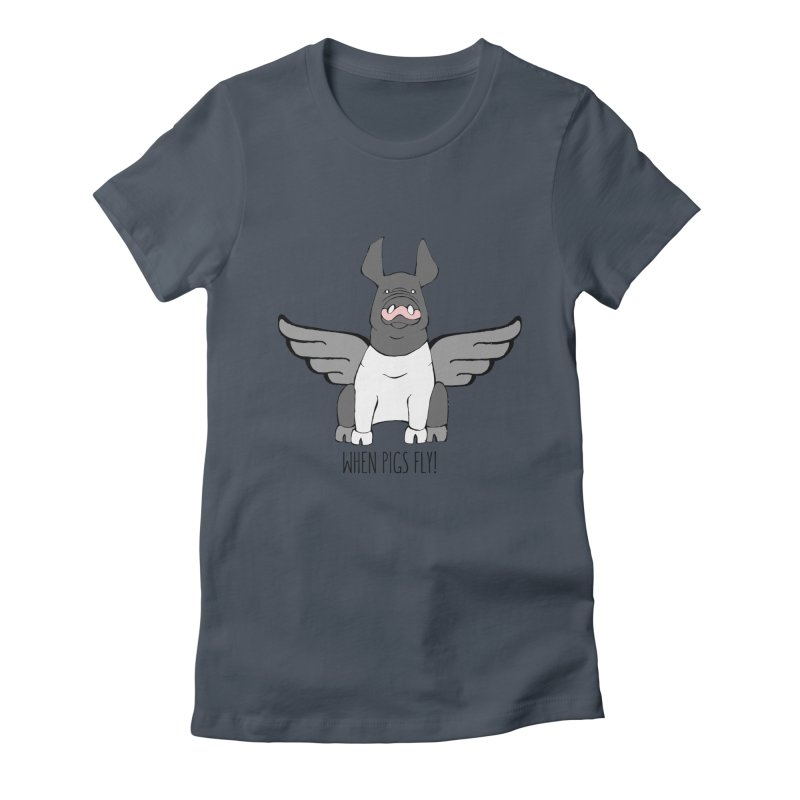 When Pigs Fly: Hampshire Women's T-Shirt by Angry Squirrel Studio