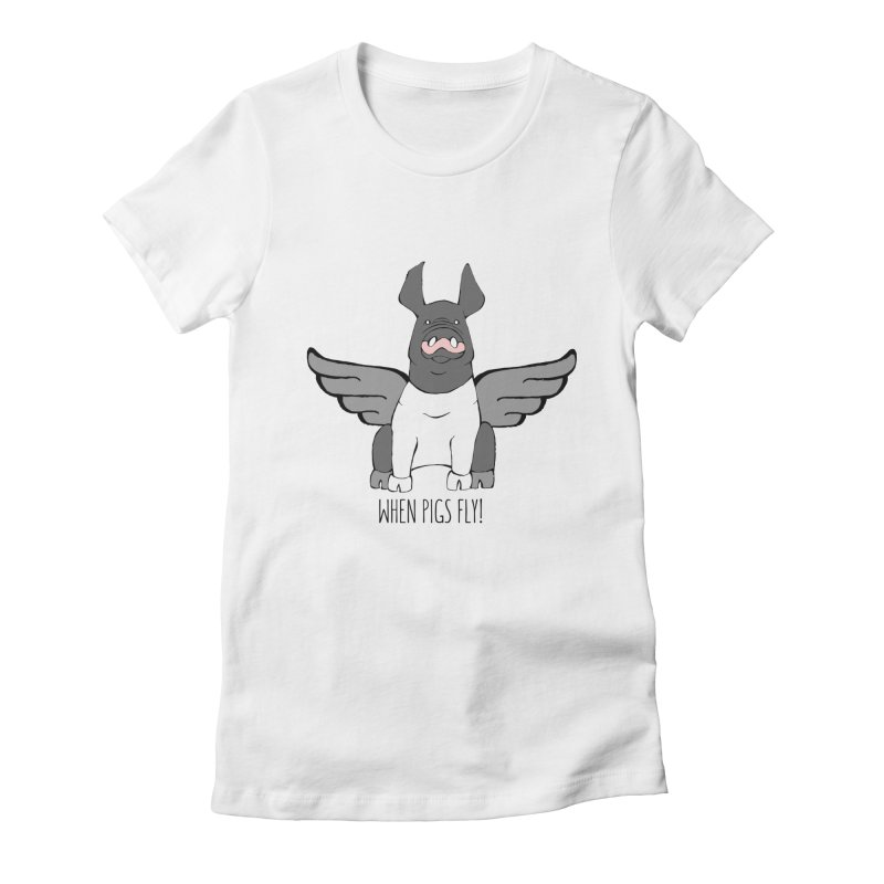 When Pigs Fly: Hampshire Women's Fitted T-Shirt by Angry Squirrel Studio