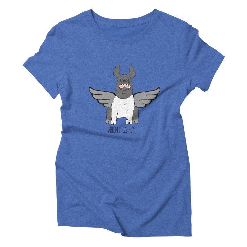 When Pigs Fly: Hampshire Women's Triblend T-Shirt by Angry Squirrel Studio