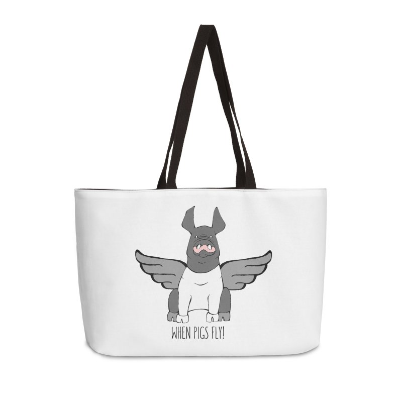 When Pigs Fly: Hampshire Accessories Weekender Bag Bag by Angry Squirrel Studio