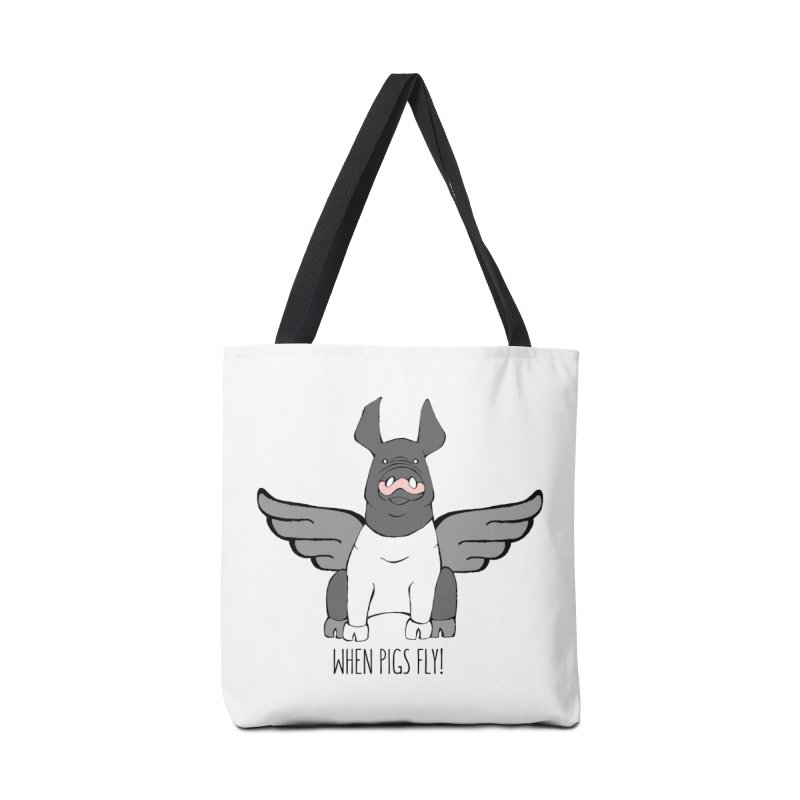 When Pigs Fly: Hampshire Accessories Tote Bag Bag by Angry Squirrel Studio