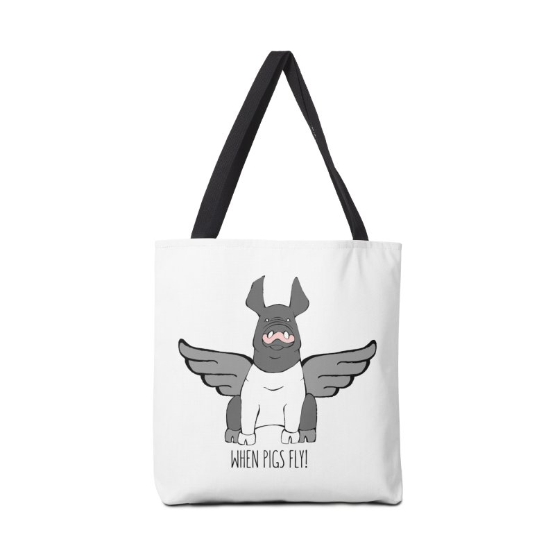 When Pigs Fly: Hampshire Accessories Bag by Angry Squirrel Studio