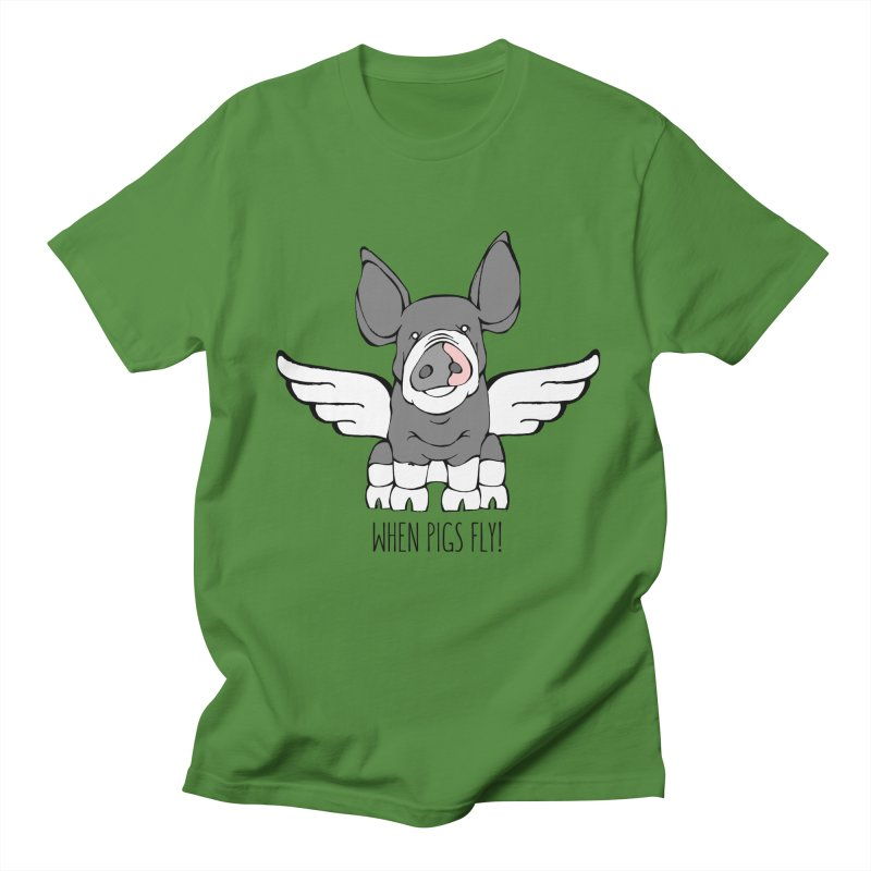 When Pigs Fly: Berkshire Men's Regular T-Shirt by Angry Squirrel Studio