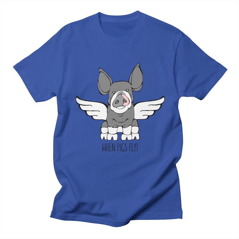 When Pigs Fly: Berkshire Men's T-shirt by Angry Squirrel Studio