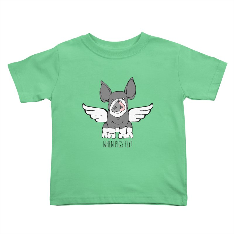 When Pigs Fly: Berkshire Kids Toddler T-Shirt by Angry Squirrel Studio