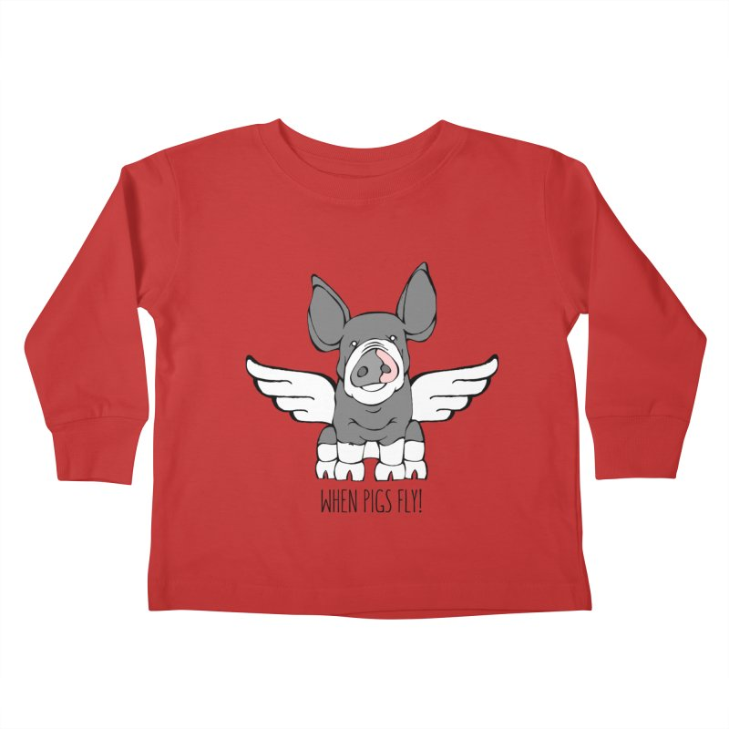 When Pigs Fly: Berkshire Kids Toddler Longsleeve T-Shirt by Angry Squirrel Studio