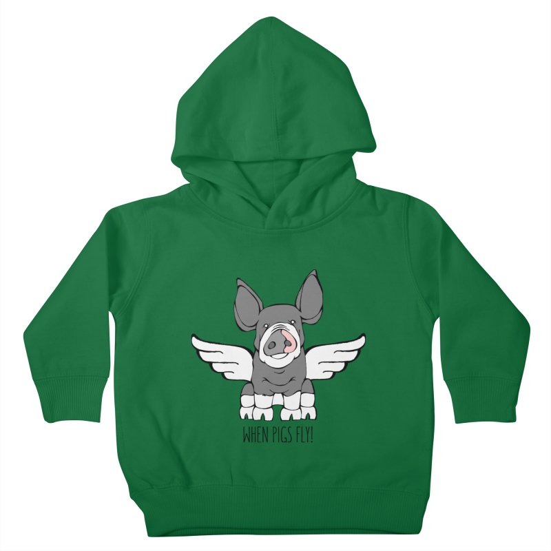 When Pigs Fly: Berkshire Kids Toddler Pullover Hoody by Angry Squirrel Studio