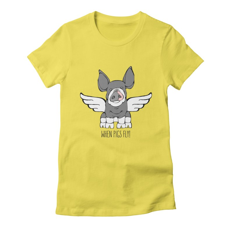 When Pigs Fly: Berkshire Women's Fitted T-Shirt by Angry Squirrel Studio