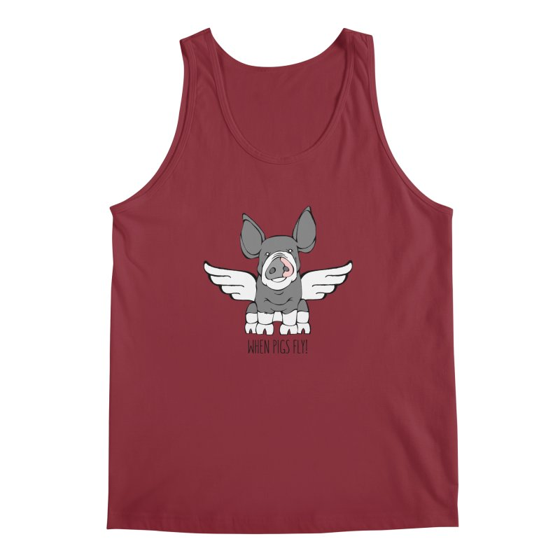 When Pigs Fly: Berkshire Men's Tank by Angry Squirrel Studio