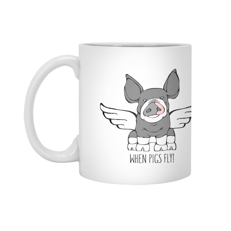When Pigs Fly: Berkshire Accessories Mug by Angry Squirrel Studio