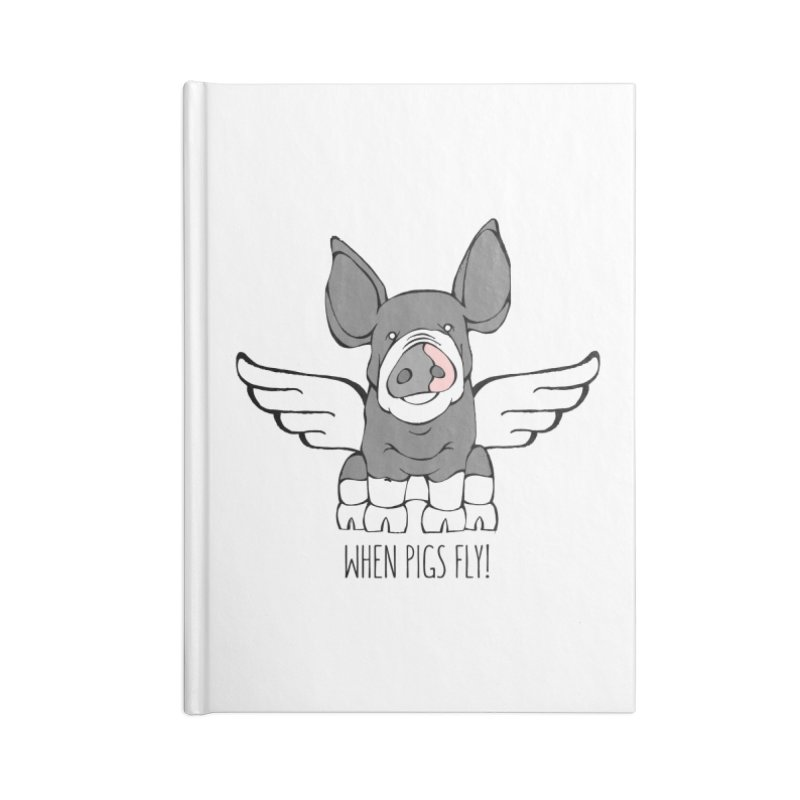 When Pigs Fly: Berkshire Accessories Blank Journal Notebook by Angry Squirrel Studio
