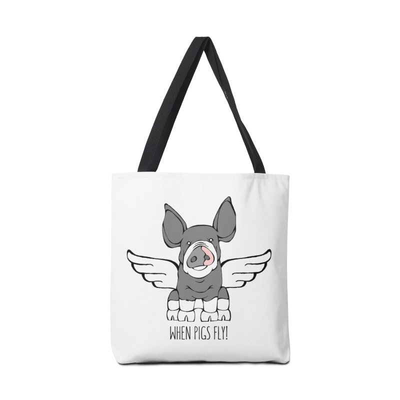 When Pigs Fly: Berkshire Accessories Tote Bag Bag by Angry Squirrel Studio
