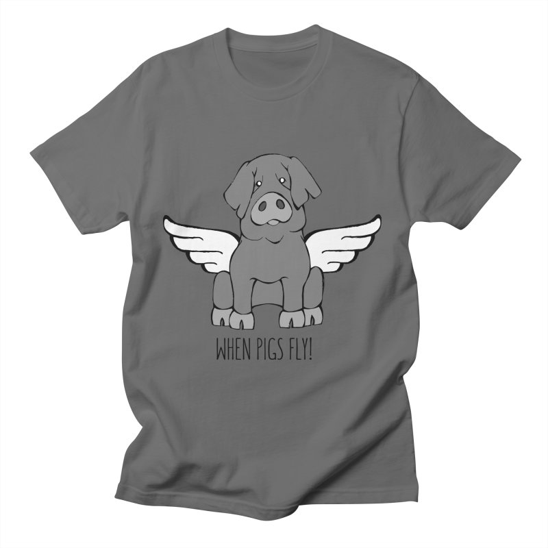 When Pigs Fly: Iberico Men's T-Shirt by Angry Squirrel Studio