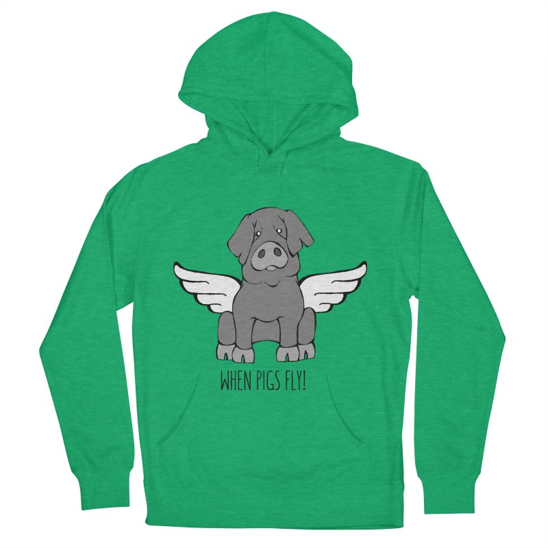 When Pigs Fly: Iberico Women's Pullover Hoody by Angry Squirrel Studio