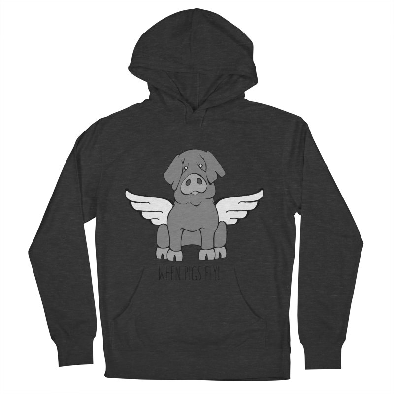 When Pigs Fly: Iberico Men's Pullover Hoody by Angry Squirrel Studio
