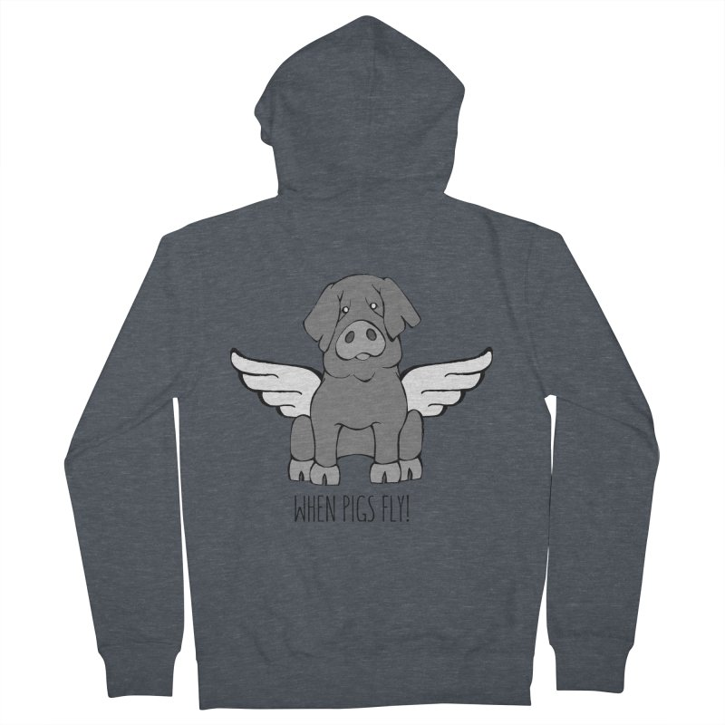 When Pigs Fly: Iberico Men's Zip-Up Hoody by Angry Squirrel Studio