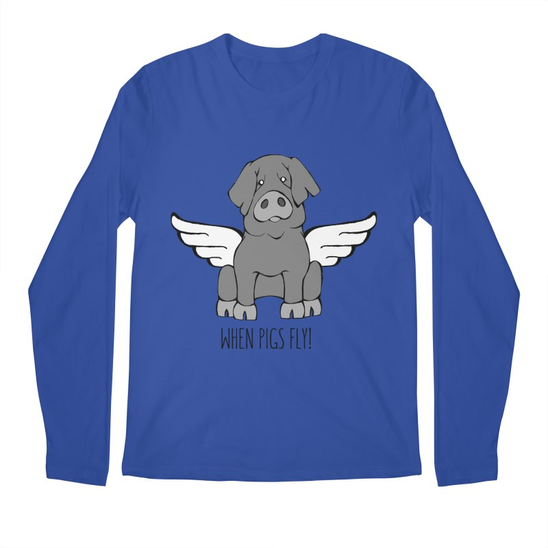 When Pigs Fly: Iberico Men's Longsleeve T-Shirt by Angry Squirrel Studio